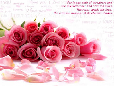 Good Morning Quotes For Best Friend: for in the path of love, there are the masked roses and crimson skies.
