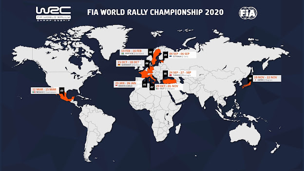 World Rally Championship World Venue Map