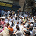 Joint protest sit-in of APHC (G), APHC (M) and JKLF against Pandit, Sainik colonies, industrial policy, oppression against youth and Jammu Muslims held at Lal Chowk