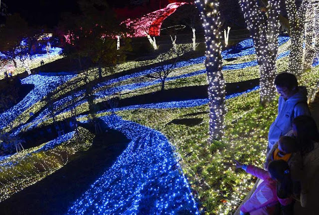 Light Tunnel at the Sagamiko Pleasure Forest, located in Sagamihara City, Kanagawa