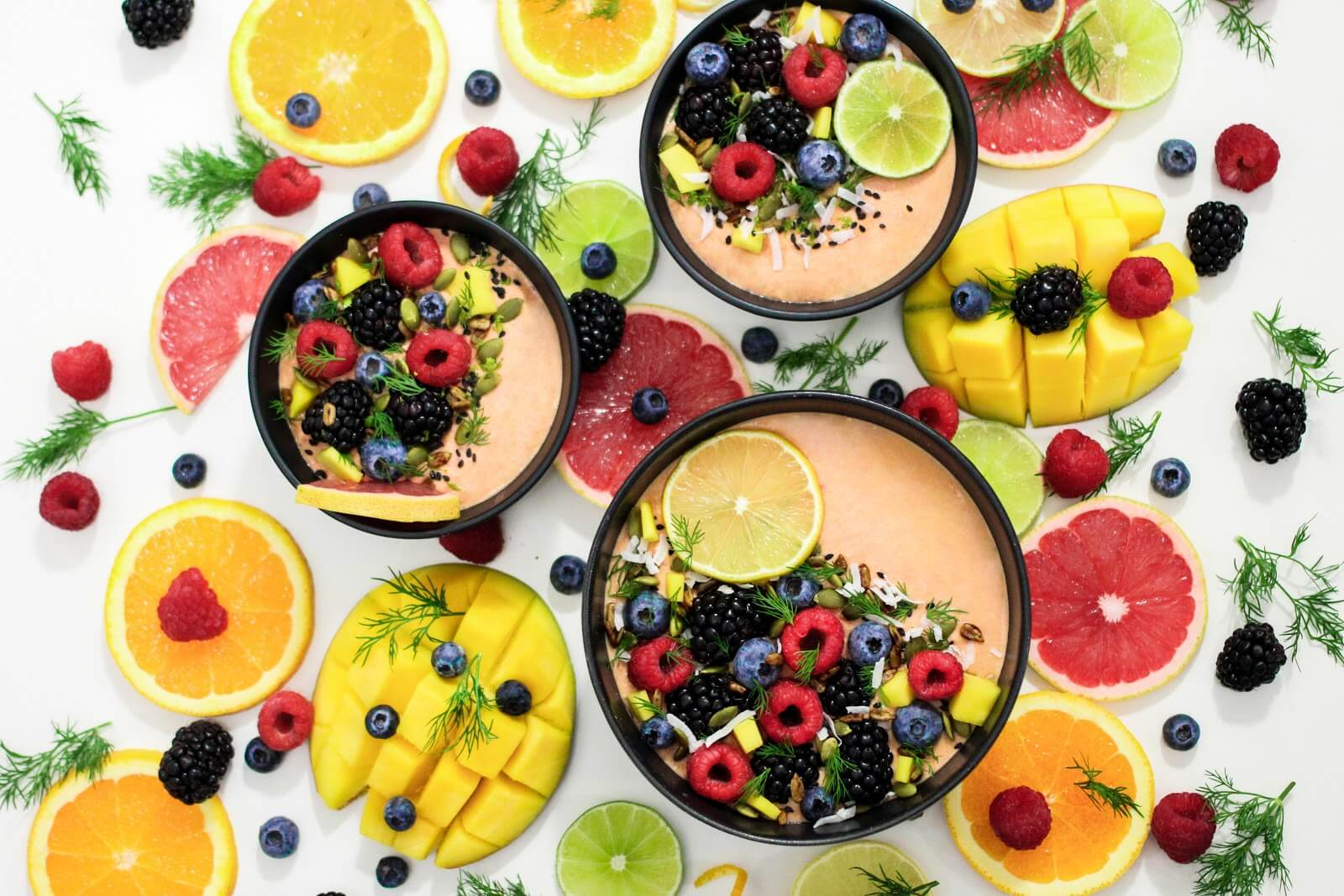 Smoothie Bowl Flatlay