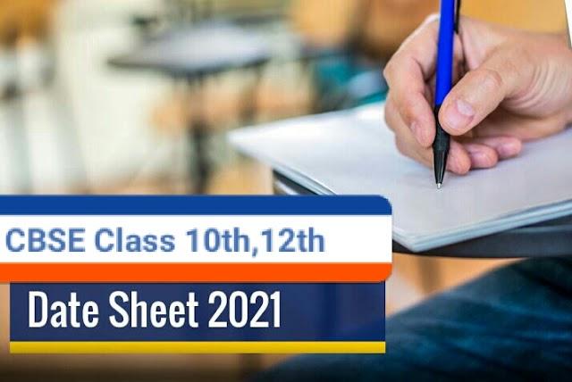 Class 10th, 12th Updated Datesheet For CBSE Board Exam 2021 - puregyan101.tk