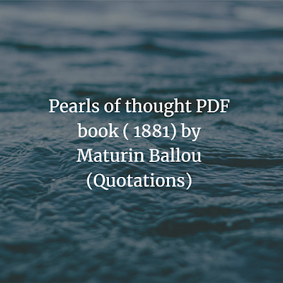 Pearls of thought PDF book