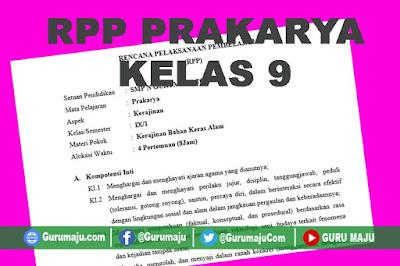 RPP Prakarya Kelas 9 Semester 1 Revisi 2018