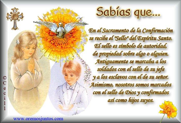 Frases para invitación de confirmacion catolica Imagui