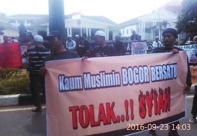 Umat Islam Bogor Gelar Aksi Tolak Syiah