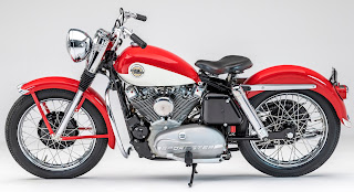 sportster xlh 1958 red and white side left