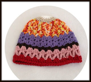 Toddler rainbow beanie