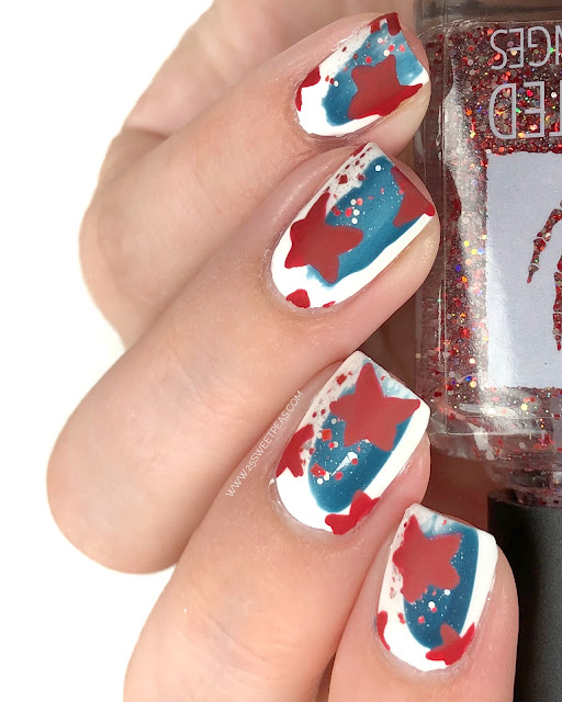 4th of July Nail Art 25 Sweetpeas