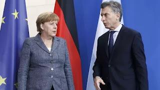 Angela Merkel junto a Mauricio Macri en su reciente visita a la Argentina (Reuters)