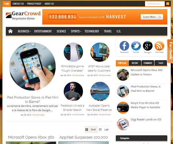 GearCrowd Blogger Template