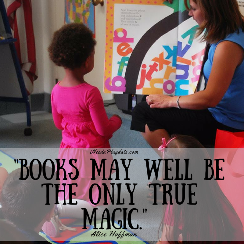 """Books may well be the only true magic."" Alice Hoffman 