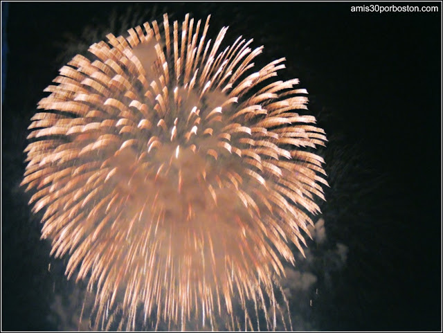 Día de la Independencia 2015 en Boston: Fuegos Artificiales