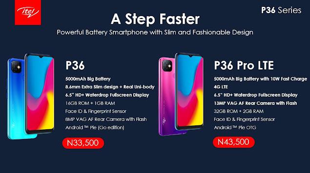 Itel mobile new phones now on Jumia