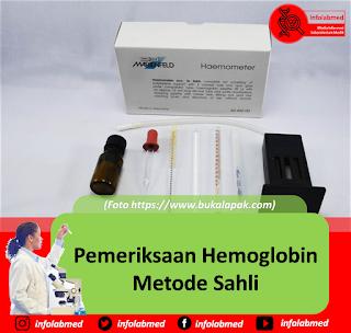 Pemeriksaan Hemoglobin Metode Sahli