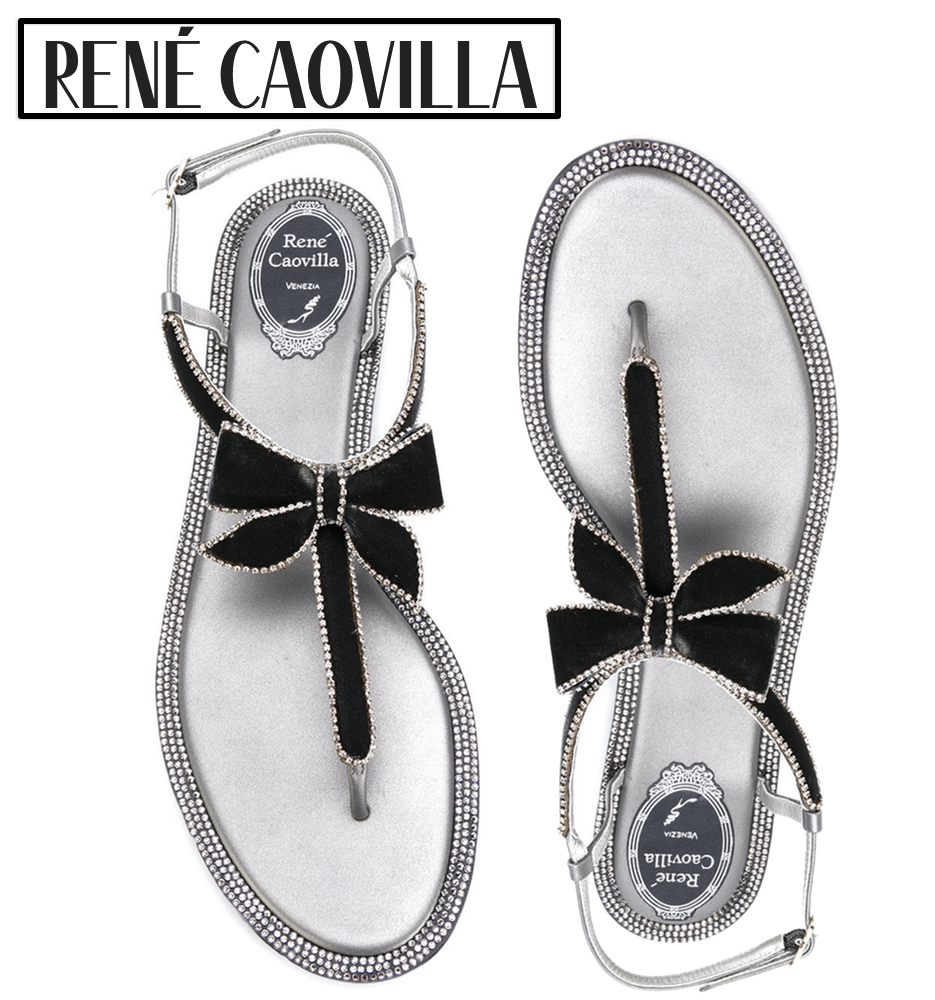 RENÉ CAOVILLA Bow Sandals