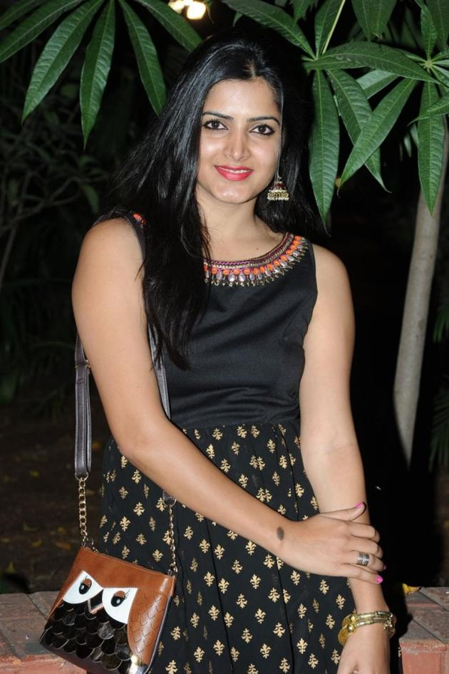 Beautiful Telugu Actress Pavani Gangireddy Long Hair Pics In Sleeveless Black Dress