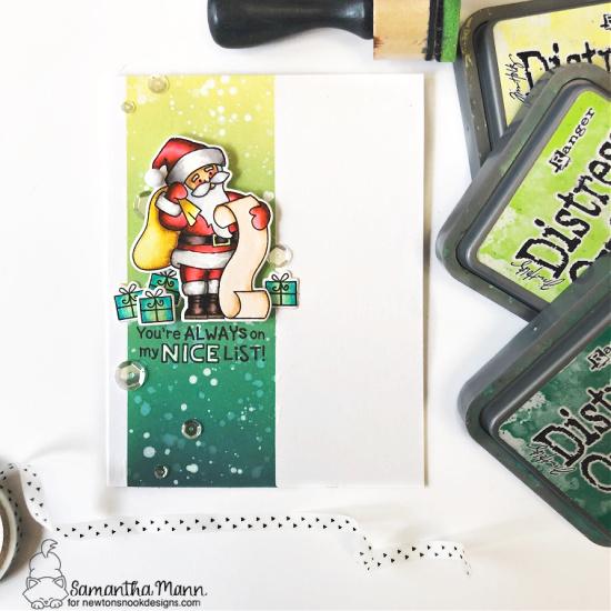Santa Card by Samantha Mann | Dear Santa Stamp Set by Newton's Nook Designs #newtonsnook #handmade