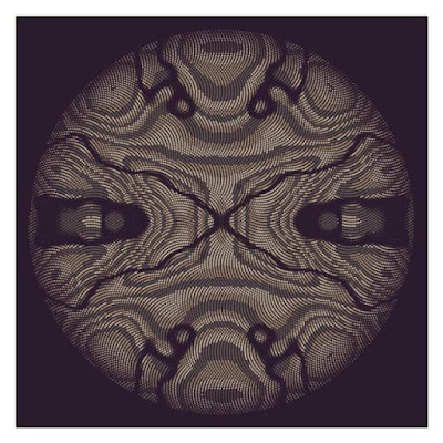 Weird striped pattern with Archimedes's spiral.