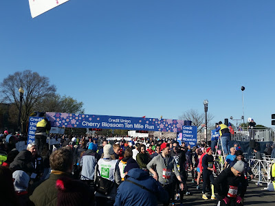 finish line at the 2018 Cherry Blossom Ten Miler