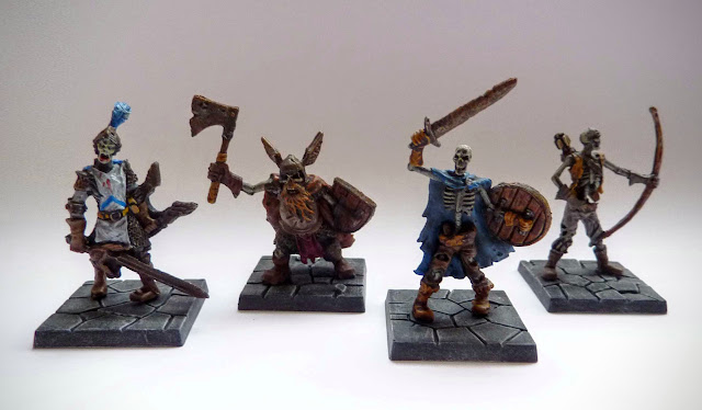 Dungeon Saga: Dwarf King's Quest painted evil dead.