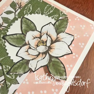 Stampin' Up! Magnolia Lane Designer Series Paper, Sketch Challenge designed by Kathryn Mangelsdorf