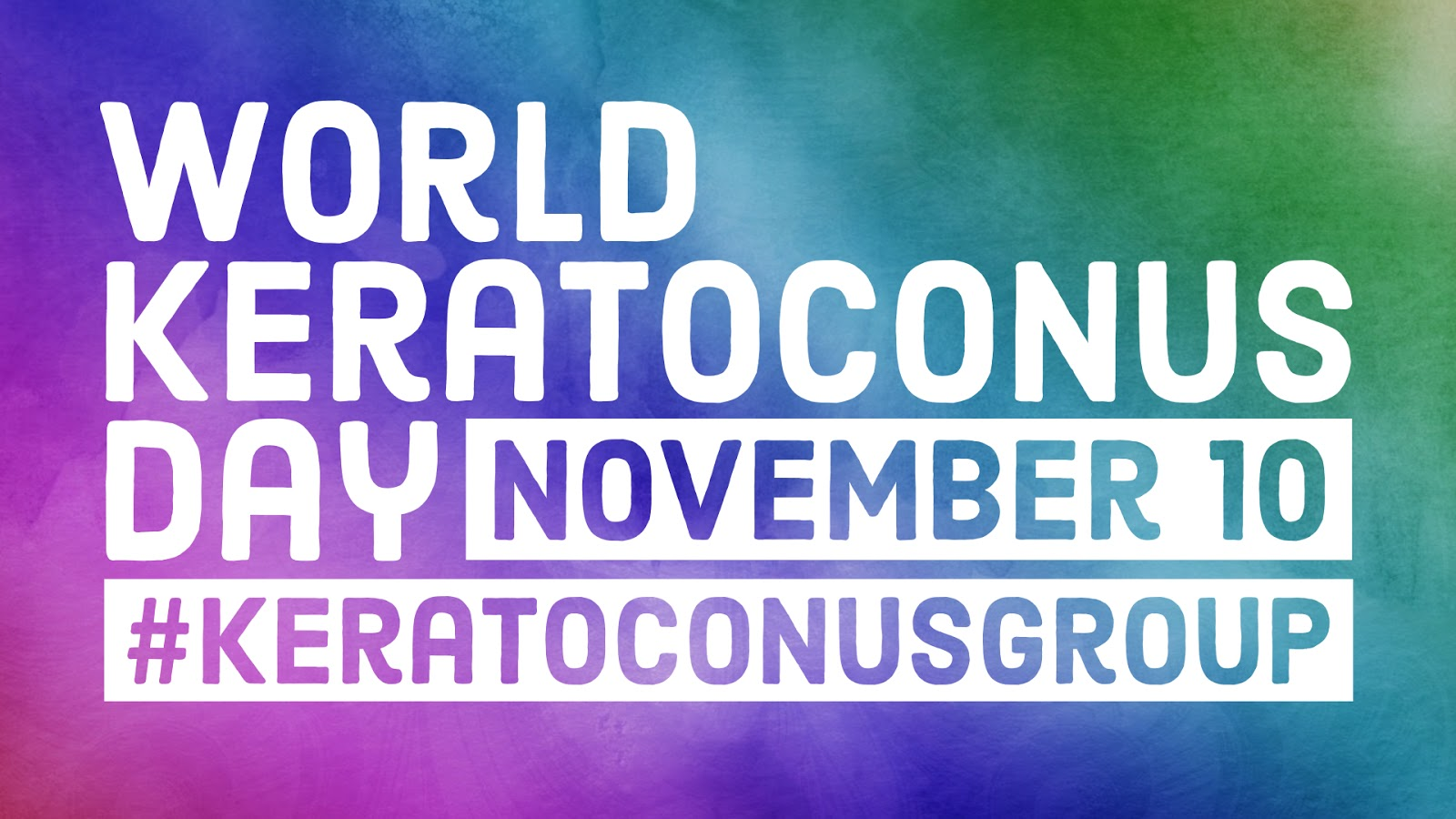 November 10 is World Keratoconus Day. Let's join together to recognize World KC Day and spread the word. This is our chance to raise awareness and hope.