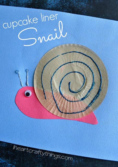 cupcake liner snail