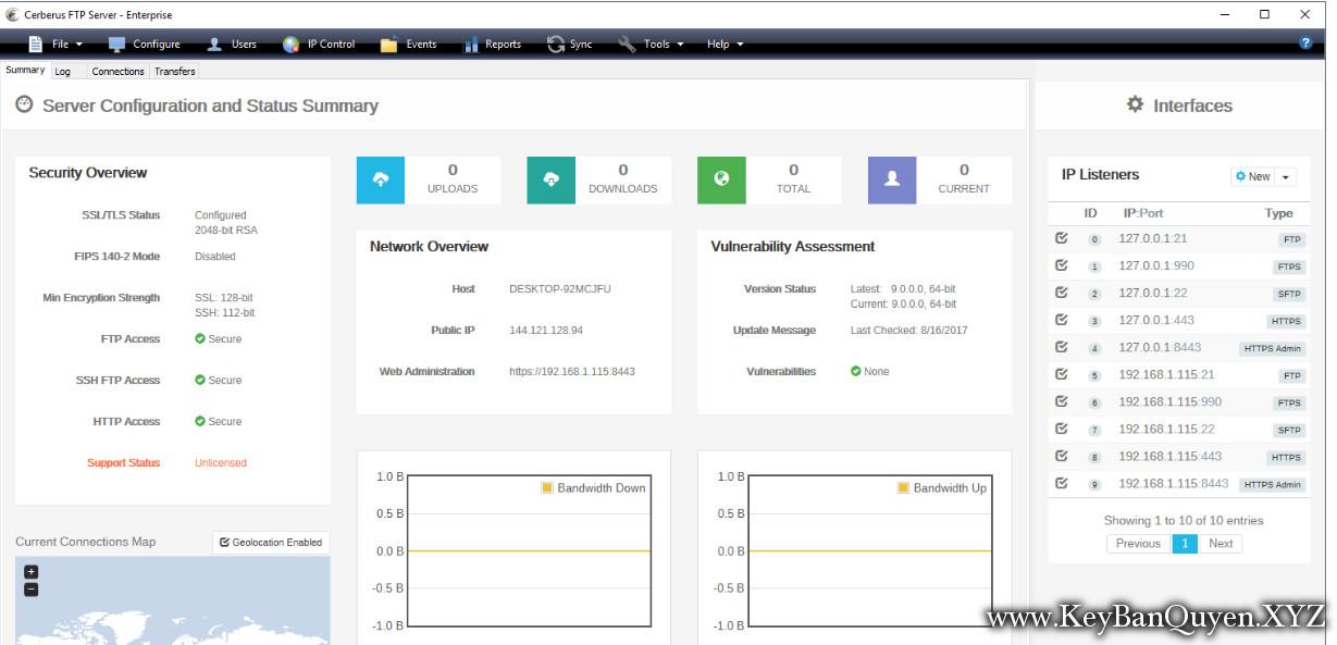 Cerberus FTP Server Enterprise 10.0.0 Full Key Download, Phần mềm hỗ trợ chuyên sâu truyền DATA lên Server