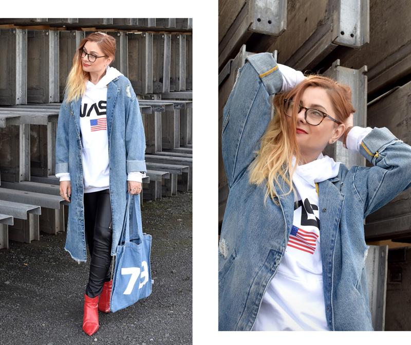 Jeansmantel, Destroyed, wie kombiniere ich einen Oversized Jeansmantel, Frauen, Modeblog