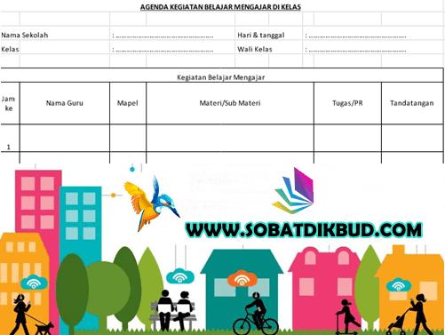Download Contoh Format Buku Agenda Kelas Versi Excel Terbaru