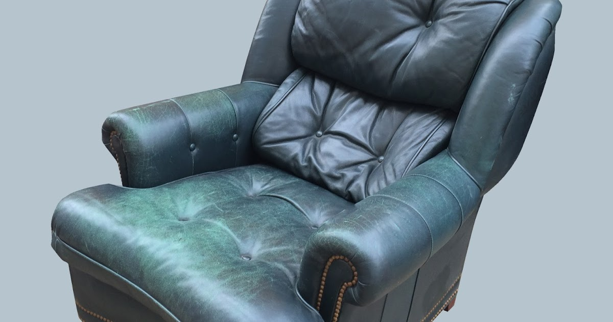 Uhuru Furniture & Collectibles: Dark Green Leather Chair ...