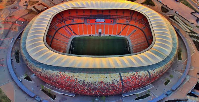 The FNB stadium is the home to the South African national team