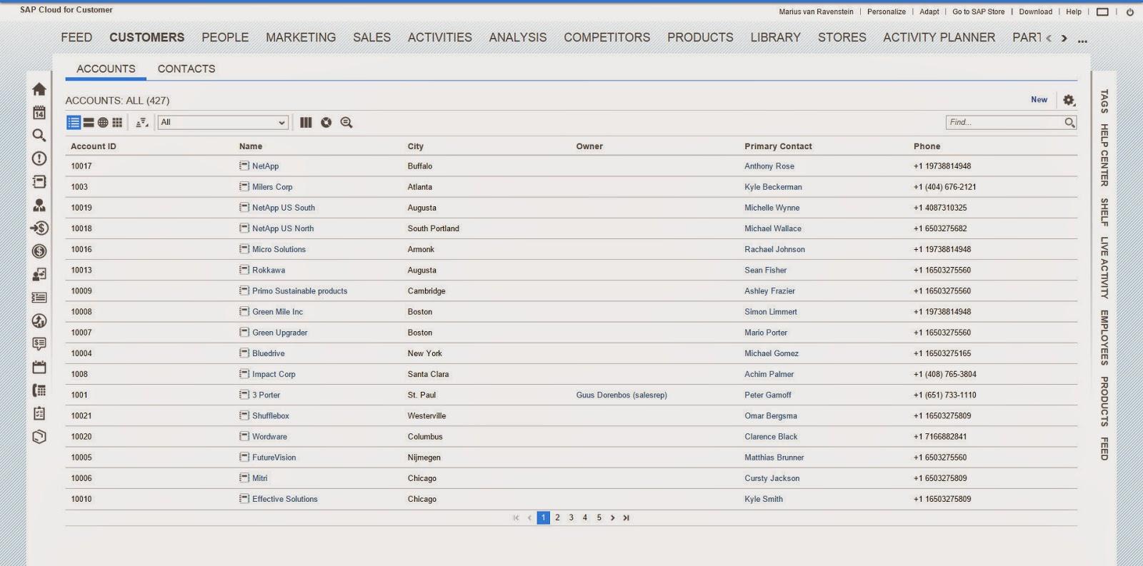 Sap Cloud For Customer Fiori User Interface New Ipad App