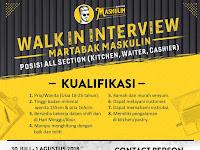 Walk-in Interview Martabak Maskulin