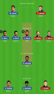 IND vs NZ Dream 11 Team   NZ vs IND