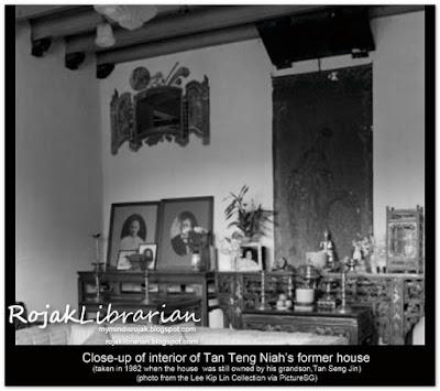 Tan Teng Niah interior of house 37 Kerbau Road