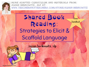 shared reading handout