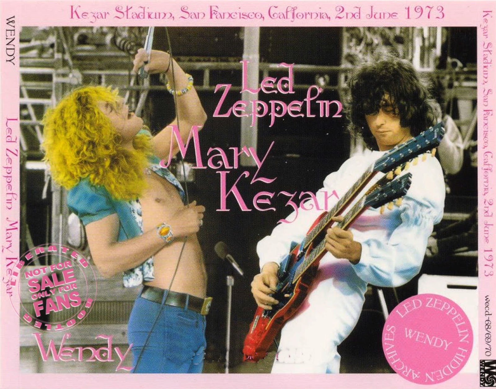 1973 - Led Zeppelin - Mary Kezar - San Francisco