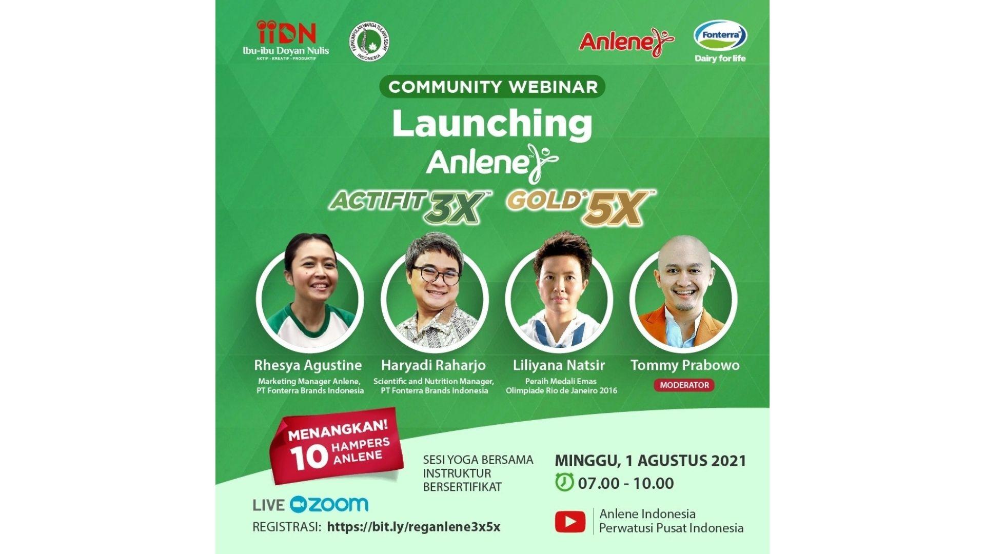 Launching Anlene Actifit 3X dan Gold 5X
