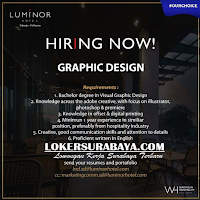 We Are Hiring at Luminator Hotel Sidoarjo Pahlawan Terbaru Desember 2019