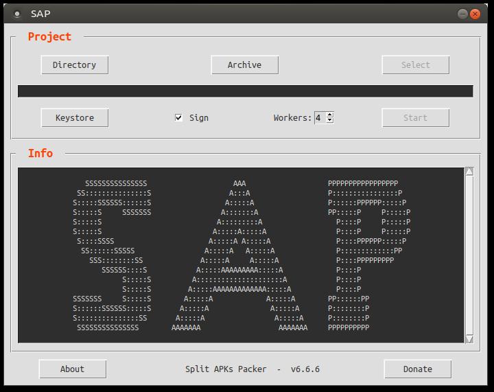 SAP (Split APKs Packer) v6.9.0 (Convert Apks To APK) Linux