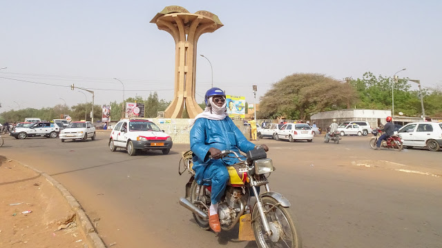Not many monuments in Niamey but big and unique Roundabouts