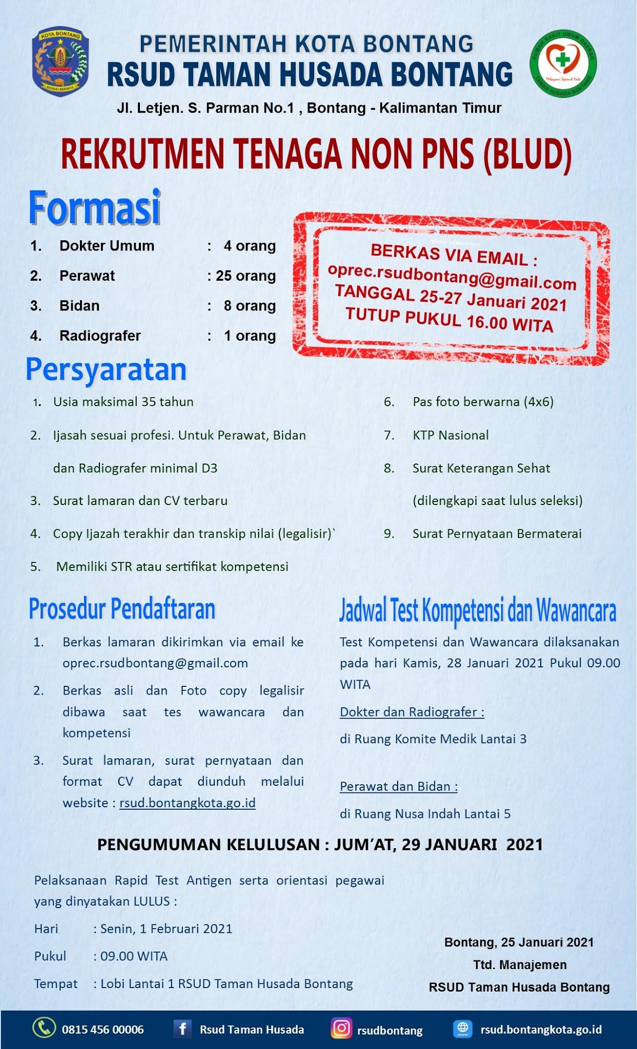 Rekrutmen RSUD Taman Husada Bontang