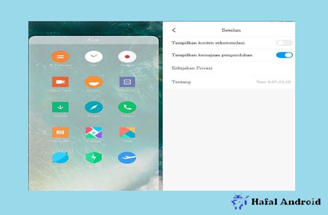 Iklan di File Manager HP Xiaomi