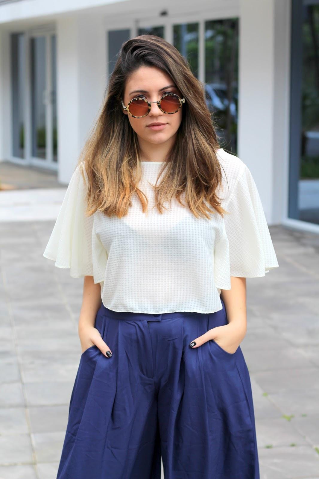 Look Ana do dia Pantacourt twinkledeals óculos niina screts stores guarulhos blogueira