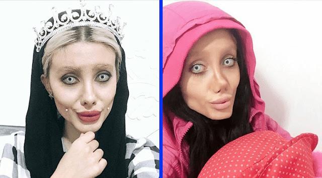 Иранская Анджелина Джоли показала, как выглядит на самом деле