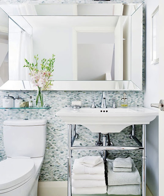 Style at Home 2017 Bathroom Trends - Harlow and Thistle - Mosaic Tile
