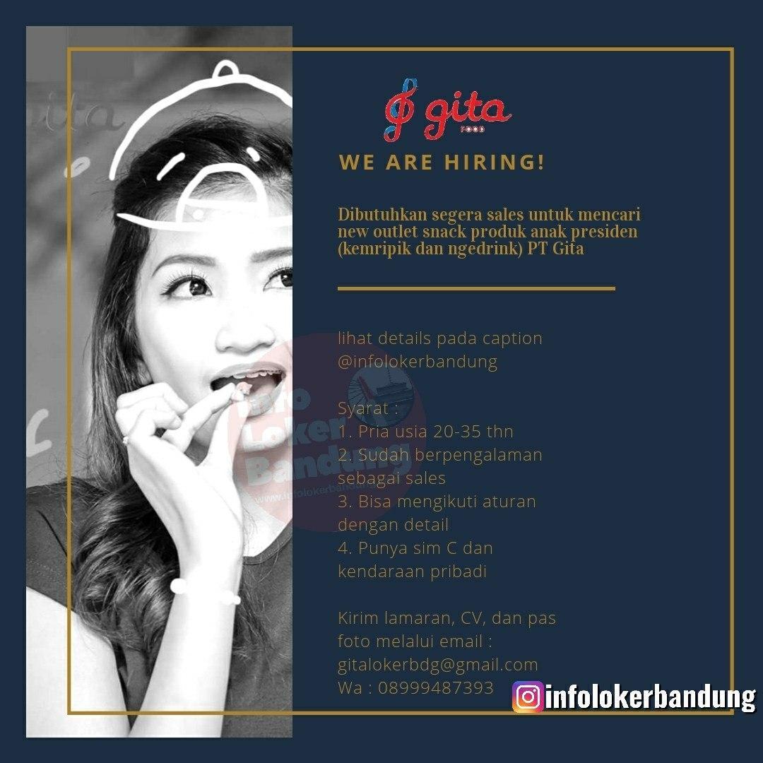 Lowongan Kerja PT. Gita Food Bandung Februari 2020