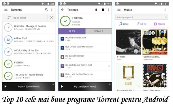 Top 10 cele mai bune programe Torrent pentru Android